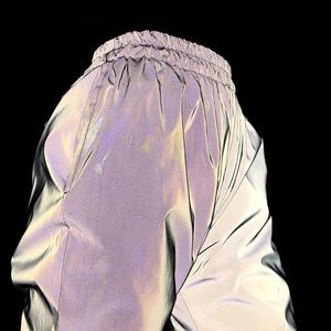 My Mum Made It reflective track pants sz XL fits M